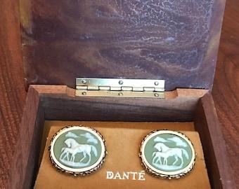 ORIGINAL BOX (Extremely Rare) Vintage Dante Museum Masterpiece Cufflinks
