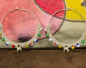 African Hoop Earrings, African Earrings, Ethnic Jewelry, Big Hoops, Sterling Silver Earrings, African Jewelry, Ethnic Earrings, Boho Earring
