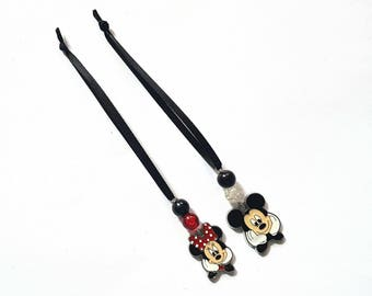 Mickey and Minnie Tree Decorations- set of 2