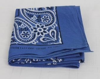 Vintage Bandana Light Blue Colorfast