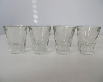 Classic Clear Shot Glasses - Set of Four