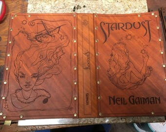 Leather covered copy of Stardust by Neil Gaiman
