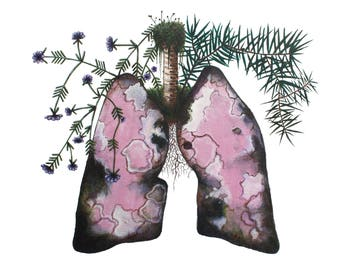 Smoked Lungs with Rosemary -Print-