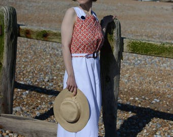 Hester- Early 1930s inspired cotton jumpsuit