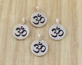 Lot of 4 Karen Hill Sterling Silver Om Charms - Destash Wholesale Price - Going out of business sale
