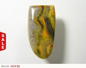 40% OFF Sale - Bumble Bee Jasper Cabochon,designer cabochon, gemstone cabochons, flat back cabochons, natural stone cabochons (bb011)