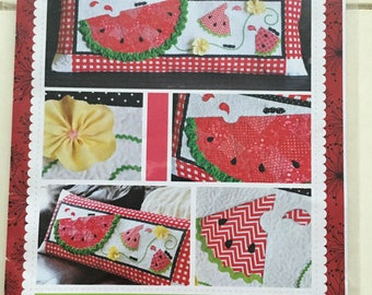 Slice of Summer Pillow Quilts Quilting Sewing Pattern Uncut UC FF KD175