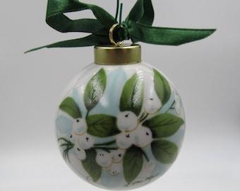 Vintage NOS 1988 Mistletoe Kissing Ball Christmas Ornament, Limited Edition 1983 Signed Mistletoe Christmas Ornament, Christmas Collectible,