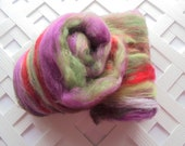TULIP FESTIVAL Art Batts to Spin, Felting Batts, Spinning Batts, Merino Art Batt, Silk Art Batt, Knitting, Spinning Fiber, Luxury Art Yarn
