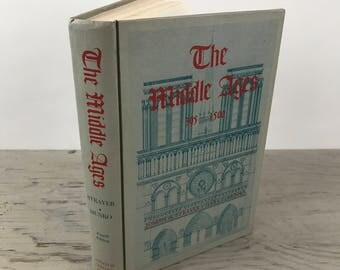 Vintage History Book - The Middle Ages 395-1500 - 1959 - Illustrated - History Textbook - Vintage Textbook