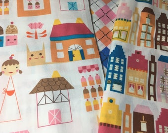 Half Yard each Pattern Robert Kauffman Suzys Dollhouse Amsterdam print fabric set of 3 prints