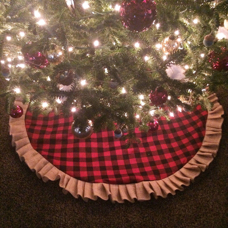 100 ruffled christmas tree skirt pattern no sew ruffled tre