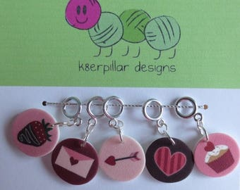 CLEARANCE Snagless Stitch Markers - Be My Valentine