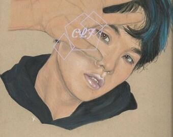 Suga BTS Drawing