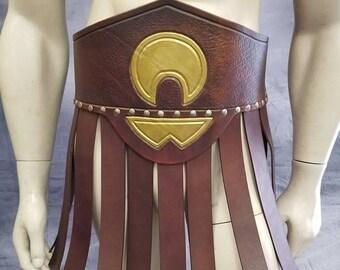 Leather Armor Skirted Gladiator Kidney Belt