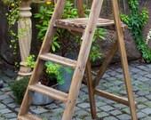 Vintage Step Ladders, wooden steps, display, garden, book case