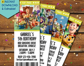 Toy Story Invitations, Toy Story 3 Invitations, Woody Invitations, Buzz Lightyear Invitations, Toy Story Birtday Invitation, Toy Story Party