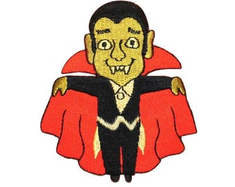 ID 0889 Cartoon Dracula Vampire Patch Halloween Embroidered Iron On Applique