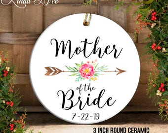 Mother of the Bride Gift, Wedding Christmas Ornament Mother of the Bride Ornament Wedding Keepsake Gift Mother in Law Wedding Ornament OPH74