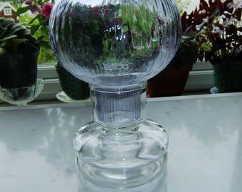Vintage Riihimäen Lasi Finn Crystal Tuikku Lantern - Nanny Still Finland