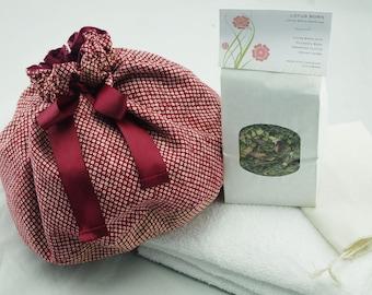 Japanese Cotton Lotus Birth Kit - Lined