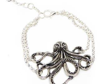 """Bracelet silver """"King Octopus"""""""