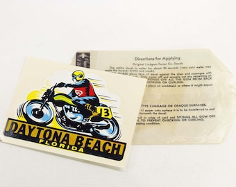 Vintage Daytona Beach Travel Decal
