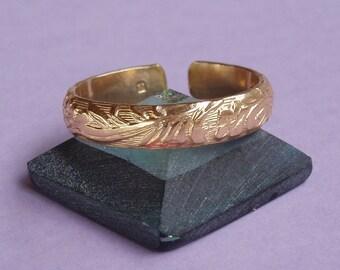 Adjustable ring in 14 K gold filled