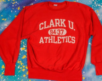 CLARK University Athletics Reverse Weave CHAMPION Sweatshirt Size XL
