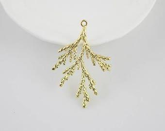 4 pcs raw Brass plating  gold tree branch