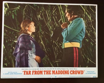 Lobby card from Far from the Madding Crowd, Stamp/Christie trees.