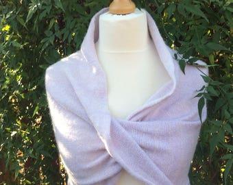 Wedding Bridal shrug.Warm and soft Bridal Bolero . Powder Pink. Bridesmaids cover up.Elegant dress knit shrug. Prom dress cover up.