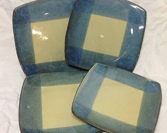 20% Off!  Stoneware Plate Set- Stone Penguin Pottery
