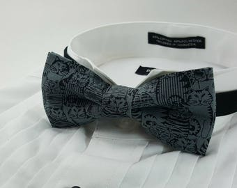 CLEARANCE! Cat Bow Tie, Kitty Bow Tie, Gift for Cat Person, Funny Bow Tie, Novelty Bow Tie, Men's Accessories