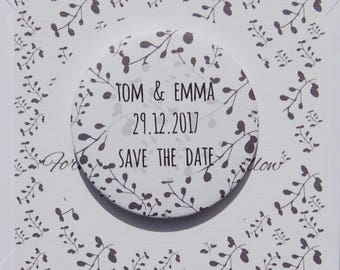 Save the Date Sample Winter Branches