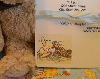 Baby Shower Invitations - Baby Boy - Winnie the Pooh, Piglet and Tigger