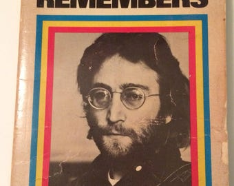 Lennon Remembers Paperback Vintage Aged Popular Library 1971 USA