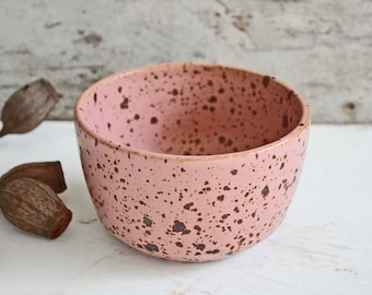 ON SALE - Small Bowl - Pottery Bowl - Ceramic Bowl - Speckled Noodle Bowl - Rustic Bowl - Snack Bowl - Bowl