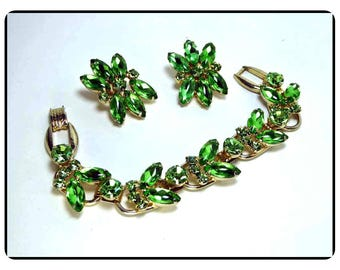 Vintage Lush Green Juliana Bracelet Demi - Earrings and Bracelet -  D&E  Demi-720a-071117065