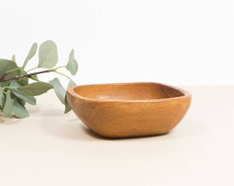 vintage wooden teak bowl