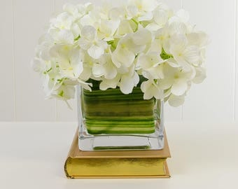 Large Real Touch Casablanca Lily Finest Silk White Hydrangea