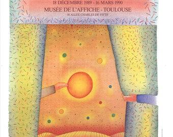 Jean-Michel Folon-25 Ans d'Affiches-1989 Poster