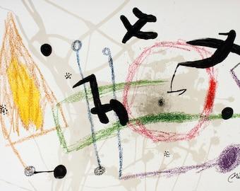 Joan Miro-Maravillas #1057-1975 Lithograph