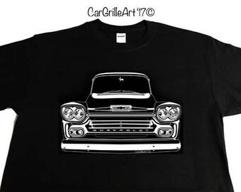 1958 Chevy Truck, Apache, Cameo, Fleetside, 3100 Pickup, Chevy Truck. T-Shirt