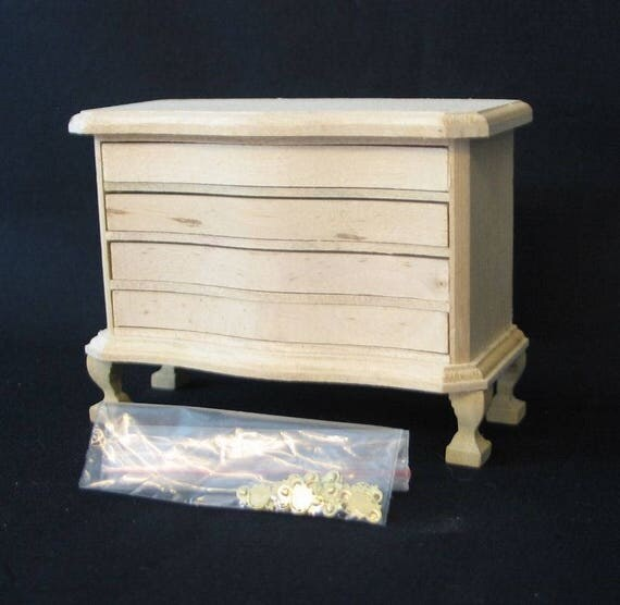 Chest of drawers, for the doll's Parlour, the doll's House, Dollhouse miniatures, cribs, miniatures, model building # 840-414