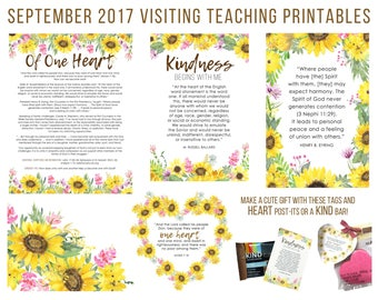 September 2017 Visiting Teaching Message Printable Instant Download - LDS - Mormon - VT Message