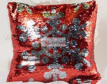 Sequins Pillow Snowflake