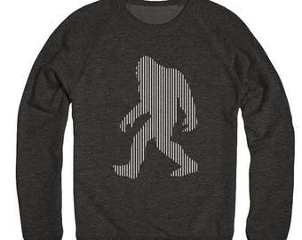 End of Summer SALE Sasquatch Sweater - Crewneck Sweater - BigFoot - Sasquatch - Tri blend - Soft Sweatshirt - Unisex