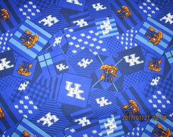 "UNIVERSITY of KENTUCKY  "" WILDCATS "" New Multi Design Fabric  - 1/2 Yard  Piece - 100% Cotton"
