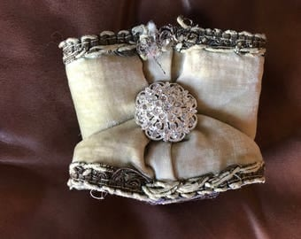 Cuff Made from Antique Chaplin Stole (sash)